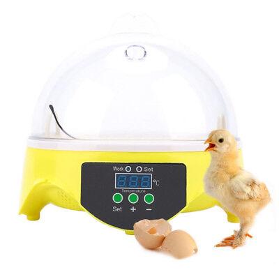 Automatic Mini Incubator 7 Egg Poultry Hatcher Digital Bird Temperature Control 6