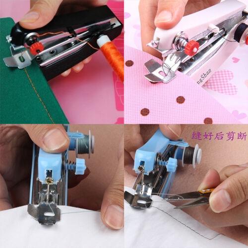 Mini macchina da cucire a mano portatile cordless tessuto portatile WQQ 8