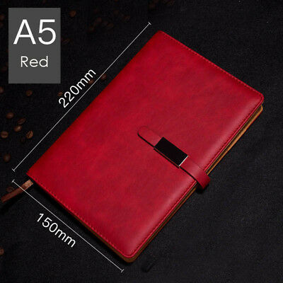 A5 PU Leather Vintage Journal Notebook Lined Paper Diary Planner with Buckle 9