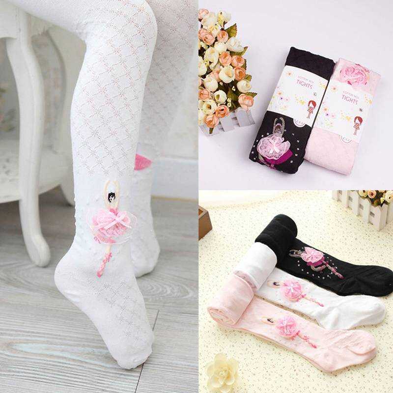 Glamour Toddler Kid Girl Ballet Dance Stretch Opaque Pantyhose Footed Tights Lit