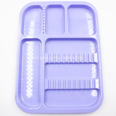 Dental Sterilized Autoclavable 135° Divided Tray Plastic Separate 245x340x2mm 2