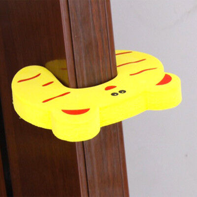 5/10pcs Baby Safety Cartoon Gate Card Security Door Stopper Protector Clip Clamp 3