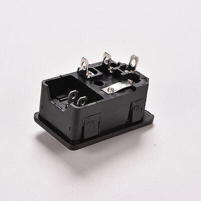 Interrupteur à bascule AC 220V 10A à 3 broches IEC320 C14 Prise d'alimentation é