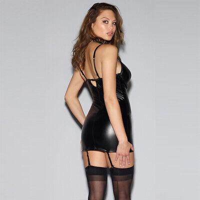 sexy Reizwäsche String mini Kleid Leder Lack Spitze Chocker Party BDSM Bondage 4