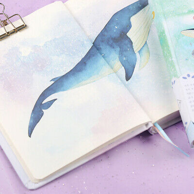 """""""Universe Whale"""" 1pc Cute Monthly Daily Planner Agenda Diary Journal Free Note 5"""