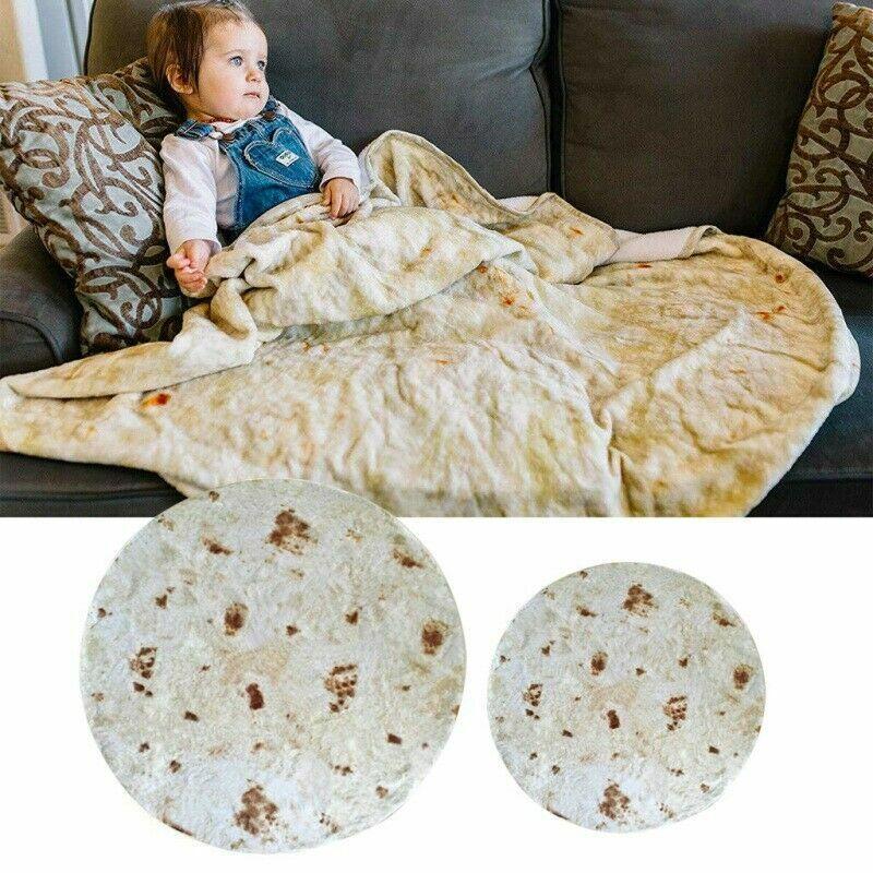 Burrito Blanket Runde Sofadecke Erwachsene Baby Tortilla Kuscheldecke Wohndecke