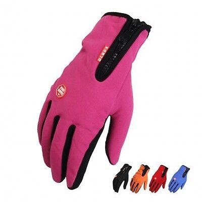 Wasserdicht Thermo Winter Handschuhe Finger Touch klappbar Sport Warm Gloves -DE 6