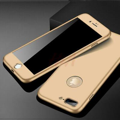 Coque 360 pour iPhone XS Max XR 6s 7 8 Plus 5 5S SE Protection Antichoc + Verre 4