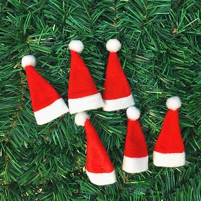 dabf6453773e9 ... 30Pcs Mini Santa Claus Hat Christmas Party Xmas Decor Holiday Lollipop  Top Lot 11