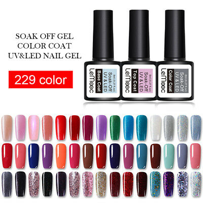 LEMOOC 8ml Esmalte de Uñas UV Gel Nail Art UV Gel Polish Soak off Gel UV Color 2