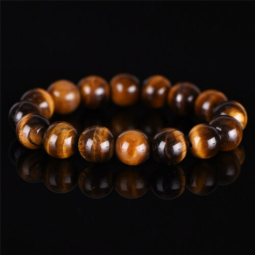 Natural Tiger Eye Stone Lucky bénir perles homme Bracelet Bijoux femme 10