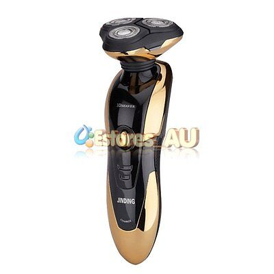 New Rotary 3D Rechargeable Washable Men's Cordless Electric Shaver Razor【AU】 3
