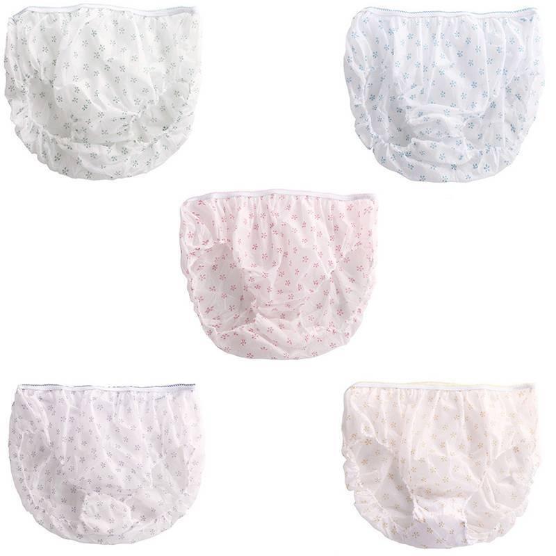 7pcs Women Cotton Pregnant Panties Underwear Travel Disposable Briefs 3