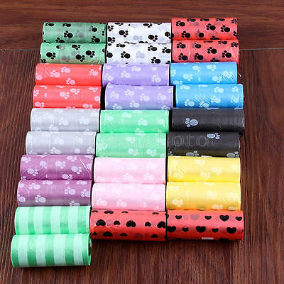 5Rolls Pet Poo Poop Bag Dog Cat Waste Garbage Pick Up Clean Refill Garbage Bags 3