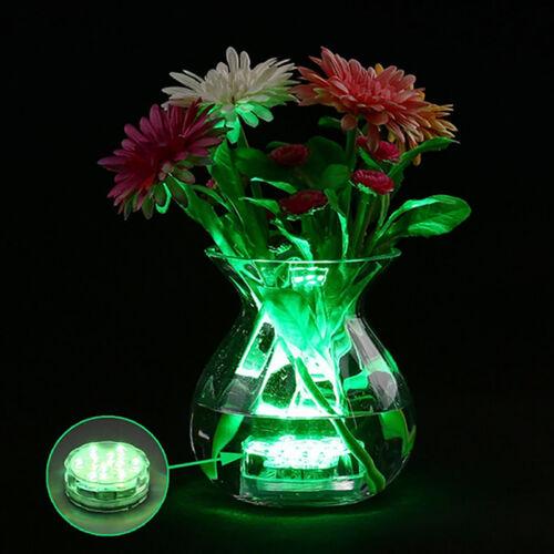 Neu 10 LED Submersible Wasserdichtes Licht RGB for Vase Hochzeitsfest Hot Sale
