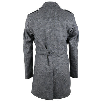 ... Trench uomo GB966H Hamaki-Ho giacca lunga grigio lana 54 cappotto  doppio petto 2 ca65a7da2e6