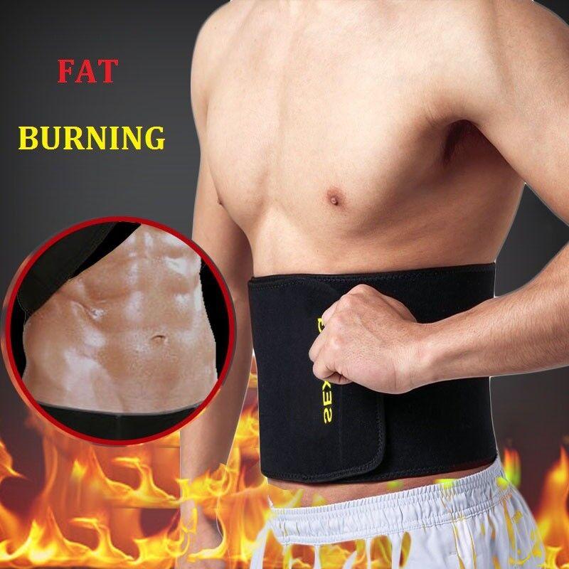 Hot Men's Neoprene Sauna Shapewear Sweat Belt Waist Cincher Trainer Body Shaper 5