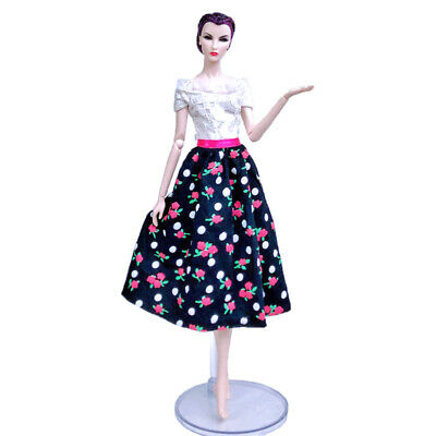 "Fashion Doll Clothes For 11.5"" Doll Dress Outfits Gown Top Floral Midi Skirt 1/6 11"