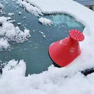 Magical Car Windshield Ice Snow Remover Scraper Tool Cone Shaped Round Funnel 1x 4