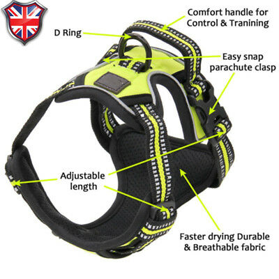 No-pull Dog Pet Harness Reflective Outdoor Adventure Pet Vest Padded Handle 3M 2