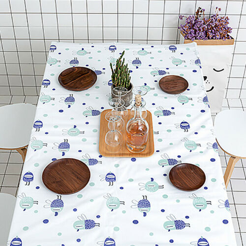 Tablecloth Waterproof Rectangular Printed Table Cloth Cover Kitchen Decor 6A 2