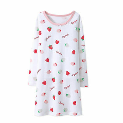 Girls Nightdress Nightie Pyjamas Cotton Long sleeve Nightwear Age 3-16 Years * 6