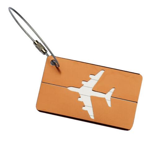 Aluminium Travel Luggage Baggage Tag Suitcase Identity Address Name Label 11
