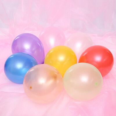 100Pcs Colorful Pearl Latex Balloon Celebration Party Wedding Birthday 10 inch 11