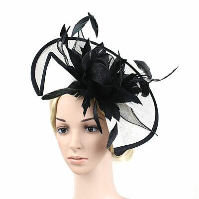 Feather Flower Hair Clip Women Vintage Fascinator Wedding Vintage Headpiece 6