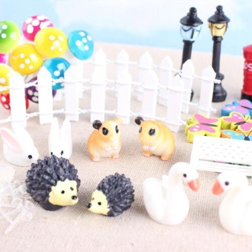 Pizies 58 PCS Miniature Ornaments Set Fairy Garden Micro Landscape Dollhouse Decoration Mini Craft