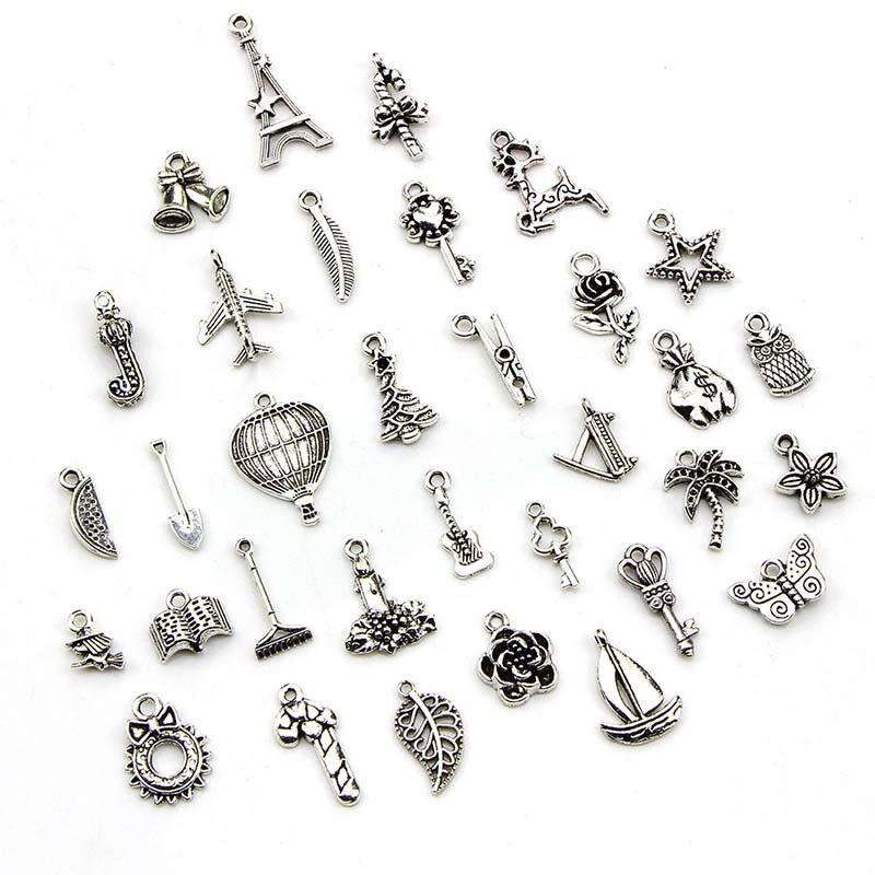 100pcs Bulk Lots Tibetan Silver Mix Pendant Charm Craft Jewelry Finding MakingWG 2