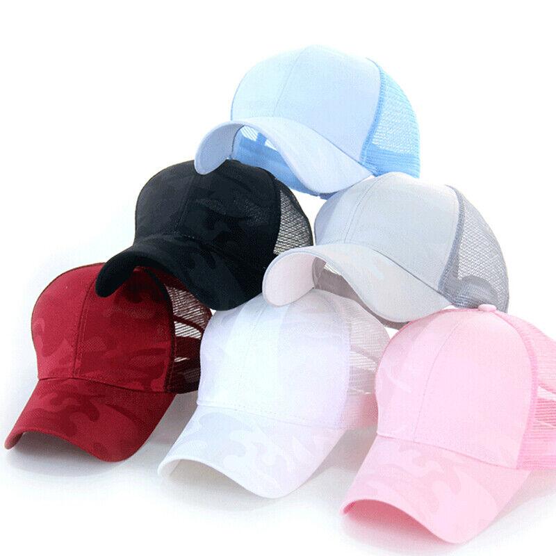 Women Pony Cap Messy High Bun Ponytail Adjustable Mesh Baseball Hat Cute Ne CP 3
