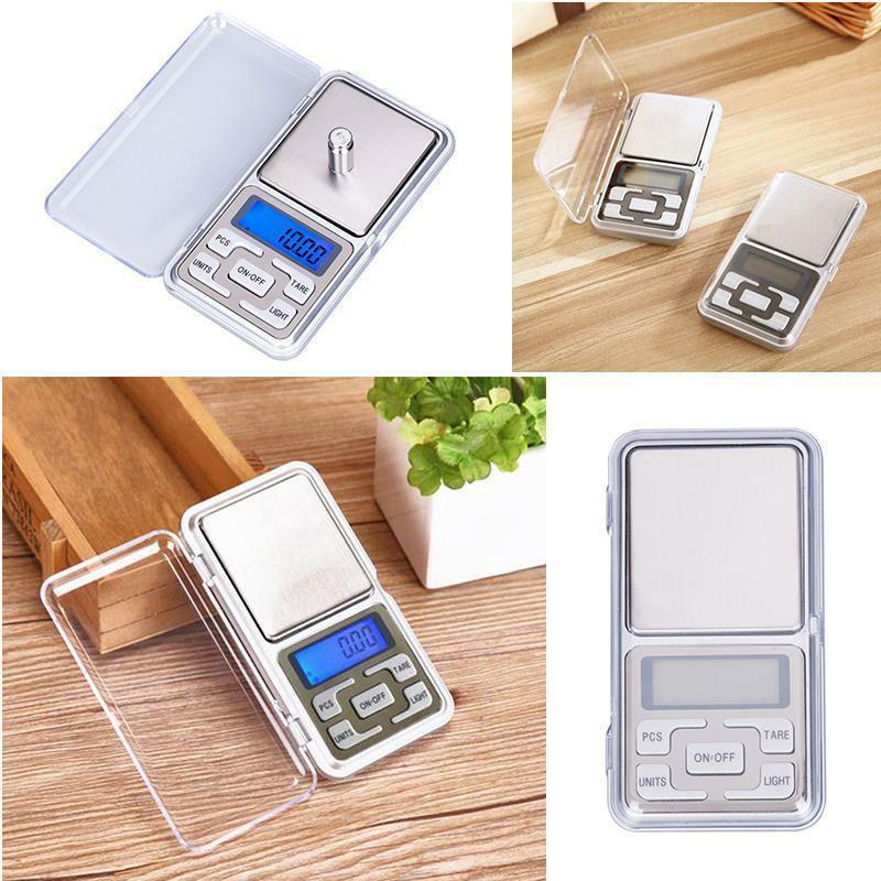 Digital LCD Scale Electronic Balance Weighing Jewelry Pocket Gram 0.01g-500g 6