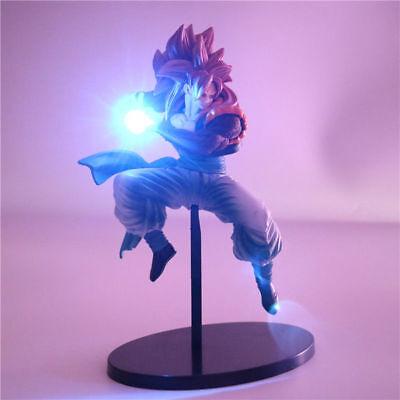 PVC RARE Dragon Ball Z Super Saiya Goku Crystal Balls Power Up Led Light Figure