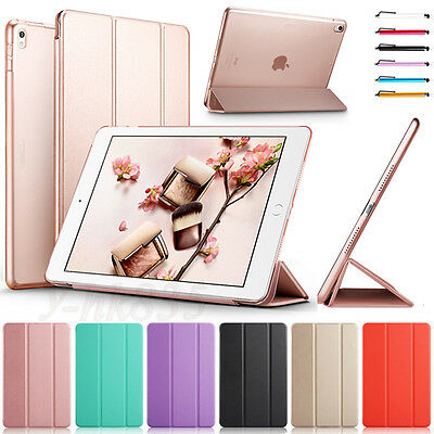 """Smart Magnetic Leather Wallet Case Stand Cover For iPad 2 3 4/Mini/Air/9.7"""" 2018"""