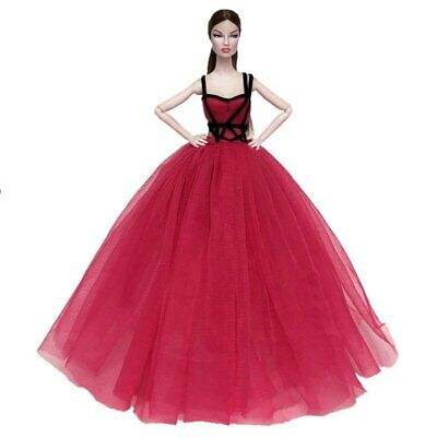 Red Black High Fashion Doll Clothes for 11.5in Doll Dress Evening Party Gown 4