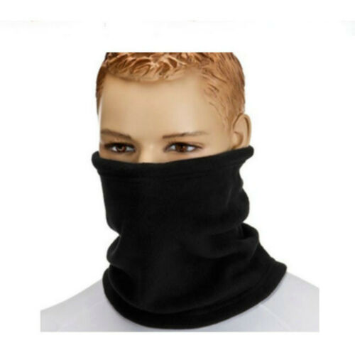 3 in 1 Winter Thermal Fleece Scarf Snood Sport Neck Warmer Face Mask Beanie Hat