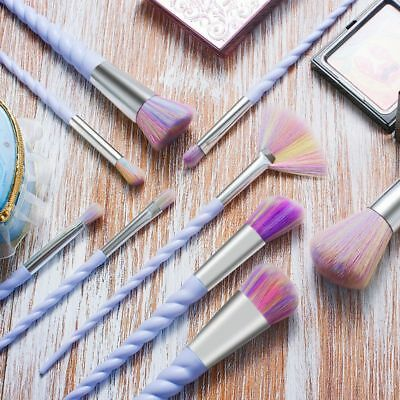 10pcs Unicorn Spiral Makeup Brushes Set Eyeshadow Powder Brushes kit 5