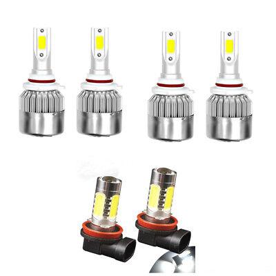 For Toyota 4Runner 2010-2018 6x LED Headlight Bulbs Kit Hi/low Beam + Fog Light 2