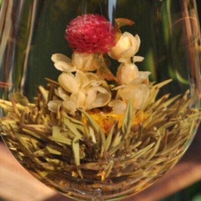 Multi Styles Schöne Handgemachte Blühende Blume Grüner Tee Ball Kräutert WH