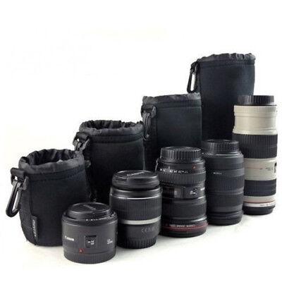 Soft Neoprene S M L XL Lens Pouch Bag Canon Nikon Sony Pentax DSLR Camera 6