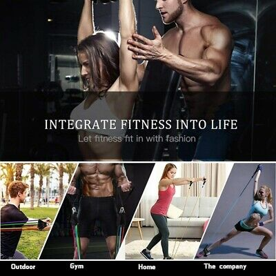 11pcs Resistance Bands Set Exercise Fitness Tube Workout Bands Strength Training 7
