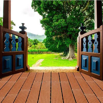 Holzfliesen Terrassenfliesen Holz WPC Balkon Grau Fliesen HOME DELUXE Kunststoff