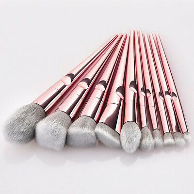 10pcs Pro Makeup Brushes Set Foundation Powder Blush Beauty Cosmetic Brush Tools