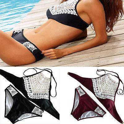 Summer Sexy Women Lace Padded Push Up Bra Bikini Set Bath Beach Suit Swimwear 2