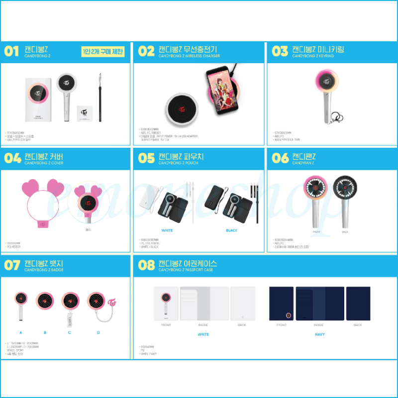 KPOP TWICE [ Twaii's Shop ] in SEOUL POP UP STORE OFFICIAL MD + Tracking No. 2