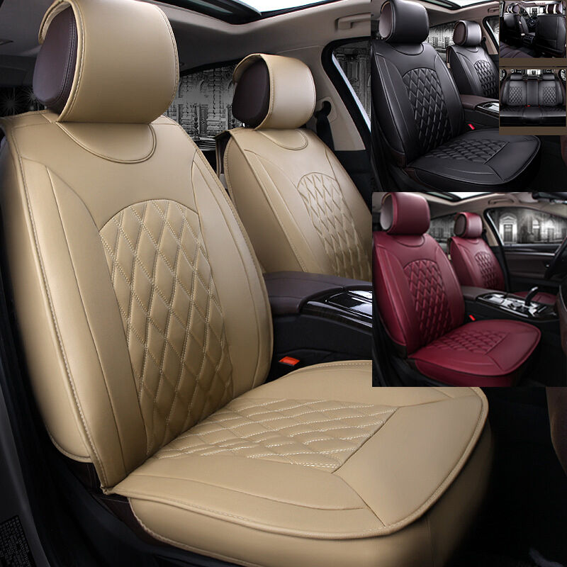1 Of 12FREE Shipping Universal 5 Seats Car Interior Seat Covers Chair Cushion 3 Colors PU Leather UDW