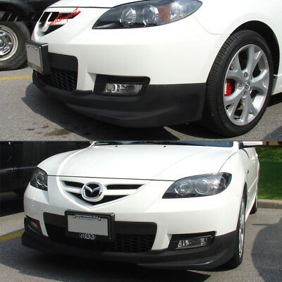 Fits 07-09 Mazda 3 4dr S-Model S Style Front Bumper Lip ABS