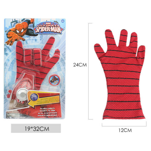 Superheld Spiderman Figur Action Figuren & Handschuhe Kinder Launcher Spielzeuge 10