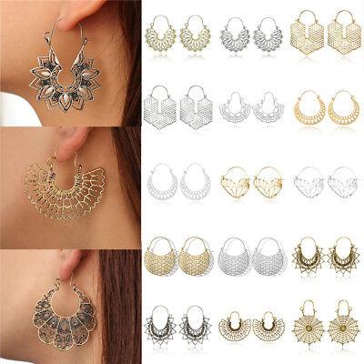 Fashion Bohemia Jewelry Vintage Silver Ear Hook Drop Dangle Tassel Bead Earrings 2